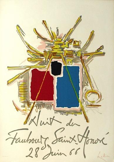 Nuit Du Fg Saint Honoré-Georges Mathieu-Collectable Print