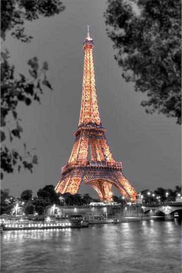 Nuit sur la Seine-Alan Blaustein-Photographic Print