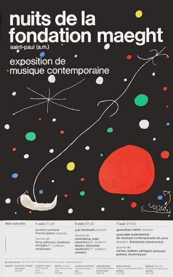 Nuits de la Fondation-Joan Mir?-Collectable Print
