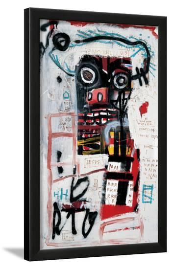 Number 1-Jean-Michel Basquiat-Framed Giclee Print