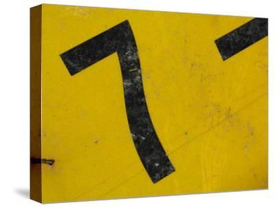 Number Seven on Worn Metal Sign