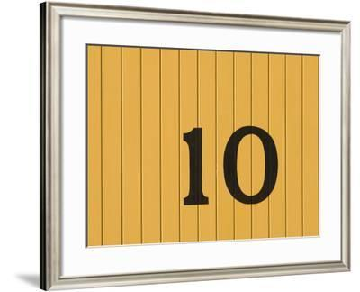 Number Ten on the Side of a Historic Trolley Car-John Nordell-Framed Photographic Print
