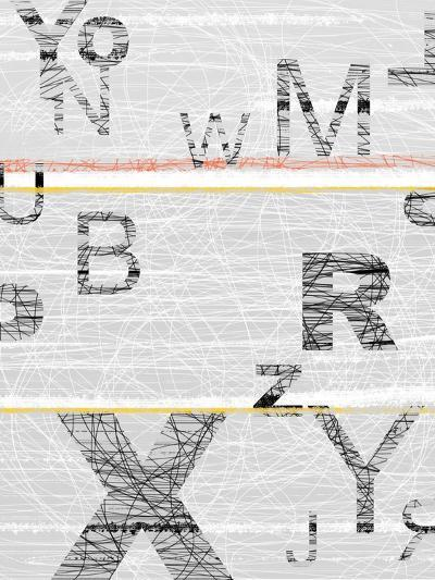 Numbers Grey-NaxArt-Art Print