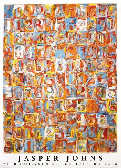 Numbers in Color-Jasper Johns-Art Print
