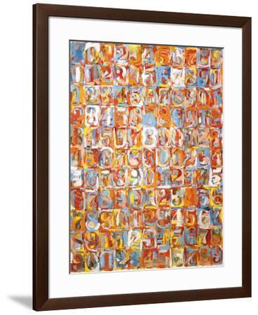 Numbers in Color-Jasper Johns-Framed Art Print