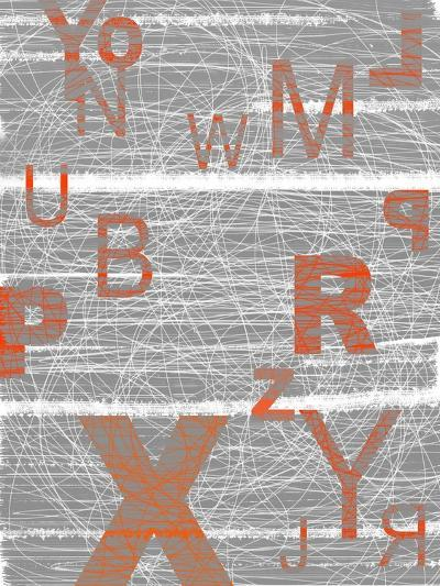 Numbers Orange-NaxArt-Art Print