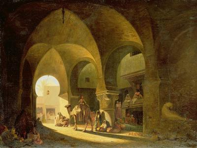 Numerous Figures in a North African Bazaar, 1839-Charles Theodore Frere-Giclee Print