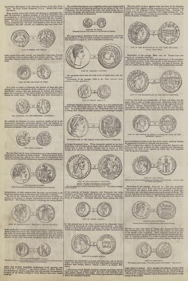 Numismatic Illustrations of the Narrative Portions of the New Testament, by John Yonge Akerman--Giclee Print