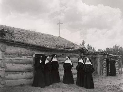 Nuns in Front of the Saint Labre Mission, Ashland, Montana--Giclee Print