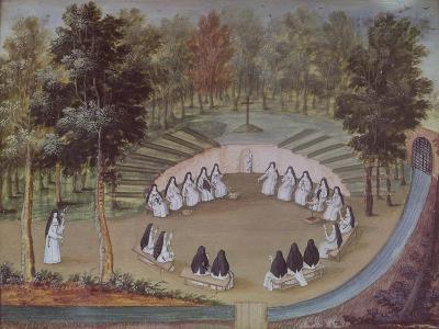 Nuns Meeting In Solitude From L Abbaye De Port Royal Circa 1710