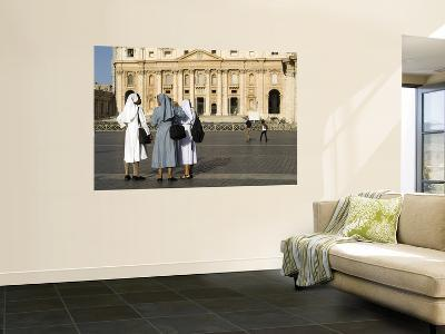 Nuns with St Peter's in Background-Will Salter-Wall Mural