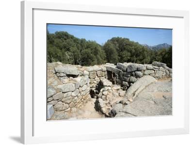 Nuraghe Albucciu, Dating from 1600 Bc, Near Arzachena, Sardinia, Italy-Ethel Davies-Framed Photographic Print