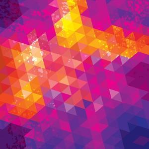 Square Composition With Geometric Shapes. Cover Background by nuraschka