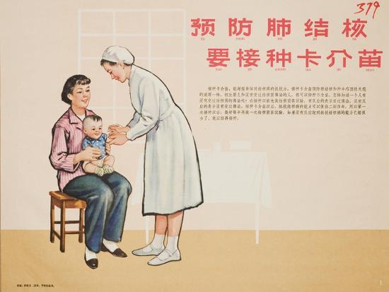 Nurse Administers a TB Vaccine--Art Print