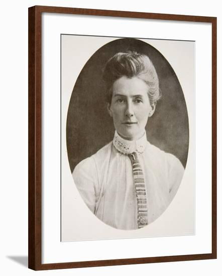 Nurse Edith Cavell, from The Year 1915: A Record of Notable Achievements and Events--Framed Photographic Print