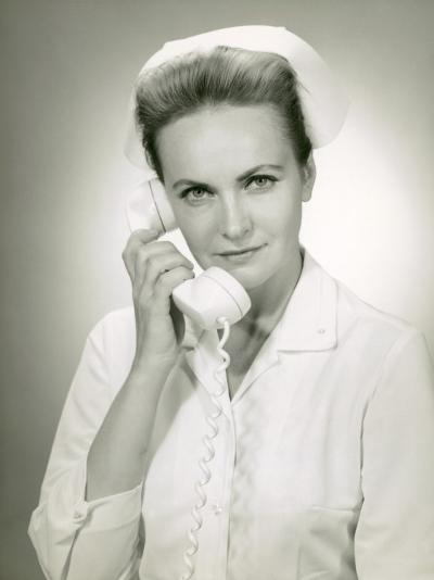 Nurse on Telephone-George Marks-Photographic Print
