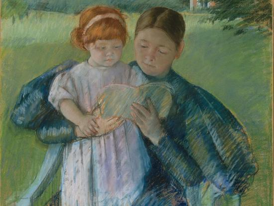 Nurse Reading to a Little Girl, 1895-Mary Stevenson Cassatt-Giclee Print