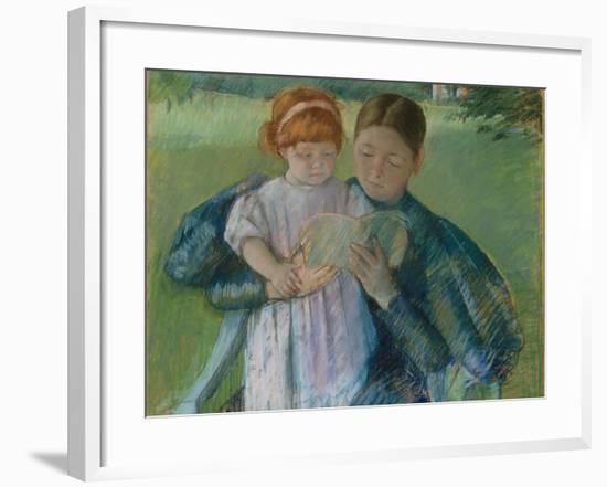 Nurse Reading to a Little Girl, 1895-Mary Stevenson Cassatt-Framed Giclee Print