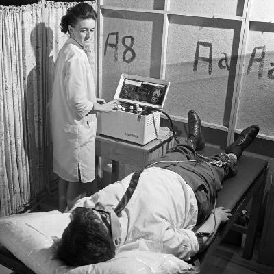 Nurse Using a Cardiopan Machine, Rotherham, South Yorkshire, 1967-Michael Walters-Photographic Print