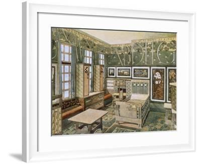 Nursery Designed by Will Bradley in His House in Concord, Massachusetts--Framed Giclee Print