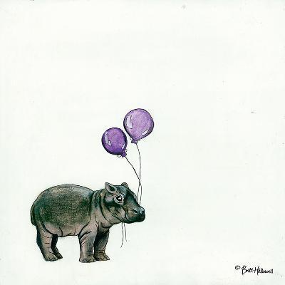 Nursery Hippo-Britt Hallowell-Art Print