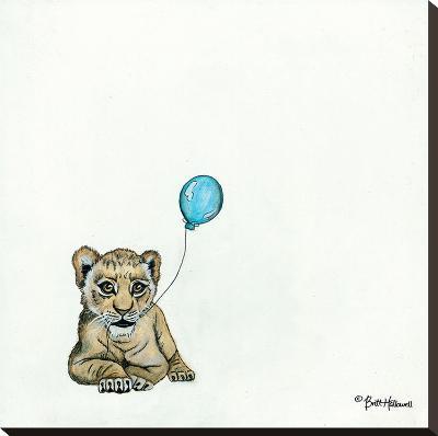 Nursery Lion-Britt Hallowell-Stretched Canvas Print