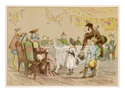 Nursery Rhyme Heroes at a Table--Giclee Print