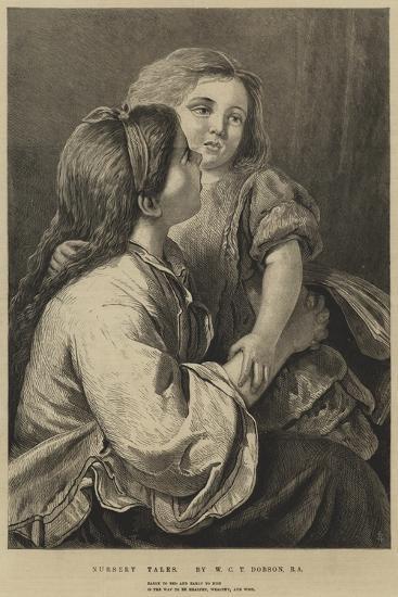 Nursery Tales-William Charles Thomas Dobson-Giclee Print