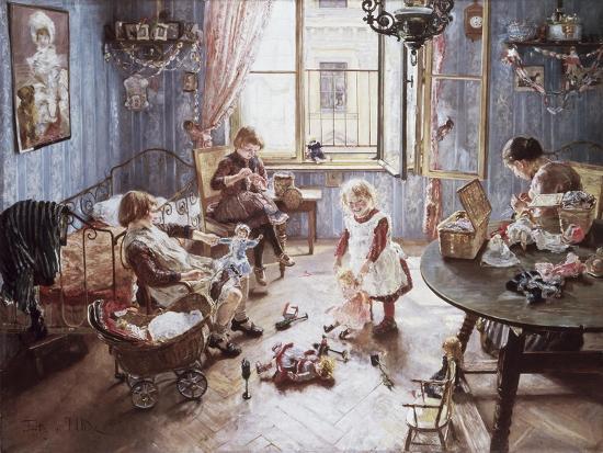 Nursery-Fritz von Uhde-Giclee Print