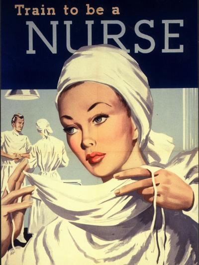 Nurses and Hospitals, UK, 1950--Giclee Print
