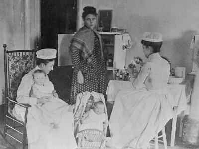 Nurses Caring for Children in Hospital--Photographic Print