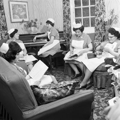Nurses Rest Room, Montague Hospital, Mexborough, South Yorkshire, 1968-Michael Walters-Photographic Print