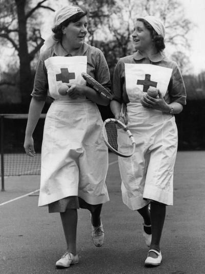 Nurses' Tennis--Photographic Print
