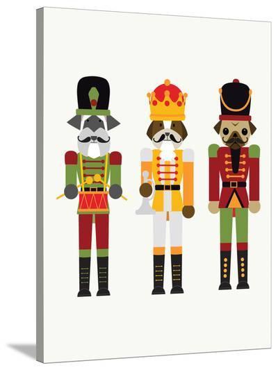 Nutcracker Dogs-Kristin Van Handel-Stretched Canvas Print