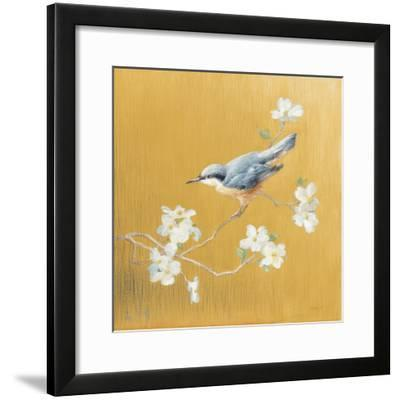 Nuthatch on Gold-Danhui Nai-Framed Art Print