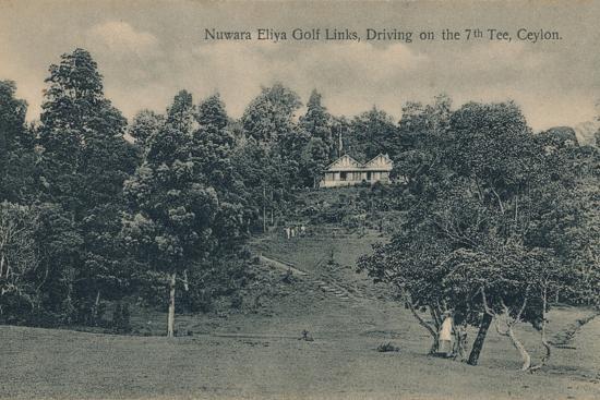 'Nuwara Eliya Golf Links, Driving on the 7th Tee, Ceylon', c1900-Unknown-Photographic Print