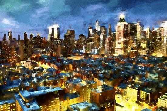 NY Blue Night-Philippe Hugonnard-Giclee Print