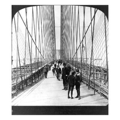 NY: Brooklyn Bridge, 1901--Giclee Print