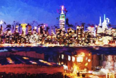 NY City Night IV - In the Style of Oil Painting-Philippe Hugonnard-Giclee Print