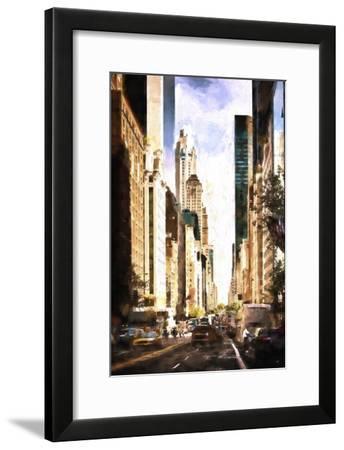 NY City Street-Philippe Hugonnard-Framed Giclee Print