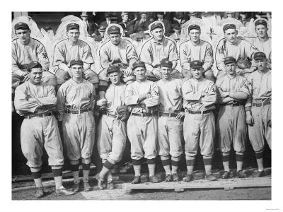 NY Giants Team, Baseball Photo No.1 - New York, NY-Lantern Press-Art Print
