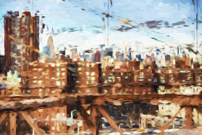 NY Skyline - In the Style of Oil Painting-Philippe Hugonnard-Giclee Print