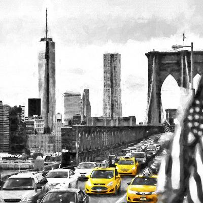 NY Taxis Bridge-Philippe Hugonnard-Giclee Print