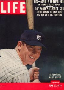 NY Yankee Slugger Mickey Mantle, June 25, 1956