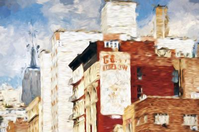 NYC Architecture - In the Style of Oil Painting-Philippe Hugonnard-Giclee Print
