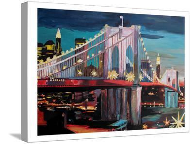NYC Bridge3-M Bleichner-Stretched Canvas Print