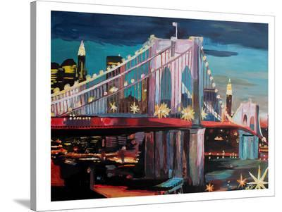 NYC Bridge3-M Bleichner-Stretched Canvas Print