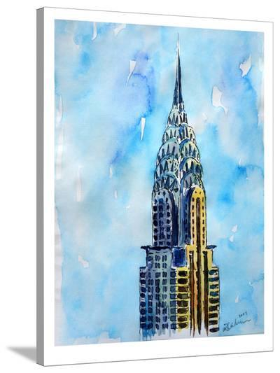 Nyc Chrysler Buildin Solitary View Neu-M Bleichner-Stretched Canvas Print