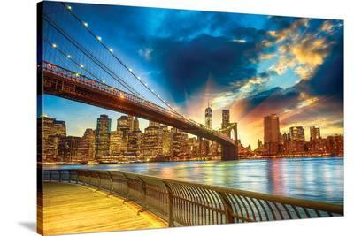 NYC in HDR--Stretched Canvas Print