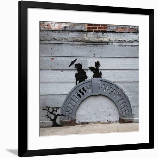 NYC Japanese Bridge-Banksy-Framed Giclee Print